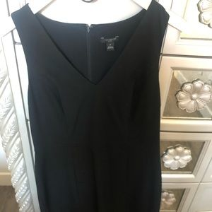 Black v-neck sheath